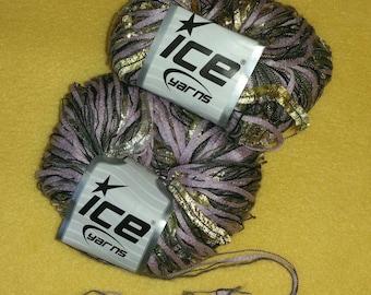 Lilac Gold Multi-strand Metallic Yarn by Ice Yarns - 2 skeins