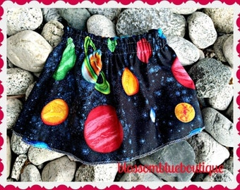 celestial skirt universe planet skirt solar system XS S M L and XL Ready to Ship