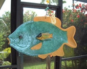 Saved for Casselberrian -        Mobile- wall hanging- patio decor- beach- fishing- home decor- garden decor-  tropical fish- recycled art