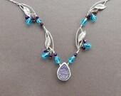 Midnight Garden Necklace Swarovski Crystal By Rayvenwoodmanor Jewelry