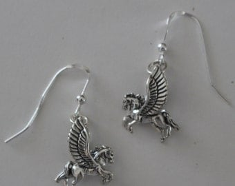 Earrings - Sterling 3D PEGASUS - Mystical, Celtic, Whoa Team