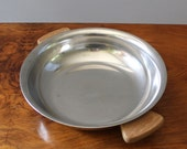 RESERVED for Hyung-hee.  Vintage Danish modern Lundtofte stainless steel serving dish, Denmark.
