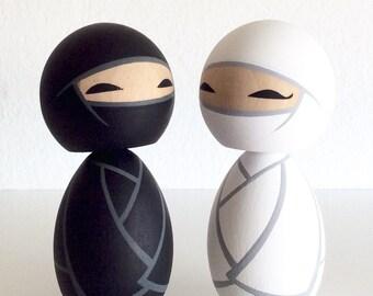 Wedding Ninjas Kokeshi doll set