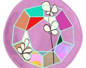 Terrarium 4 - Modern Geometric ART PRINT - Floral, Succulent, Clover, Diamond, Crystal Art