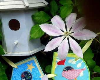 BIRD HOUSE BUNTING  Machine embroidery Designs