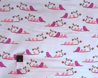 Valori Wells VW35 Wrenly MaMa Birds Violet Cotton Fabric 1 Yd