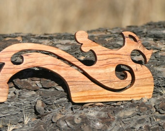 Hand Crafted Dragon Black Cherry / Beaters for Card / Inkle Weaving