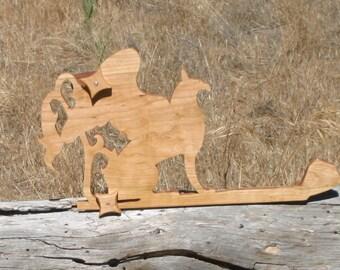 Card / Inkle weaving loom  - Cherry Wood Griffen