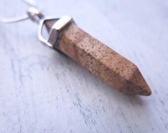 Picture Jasper Point Pendant Necklace