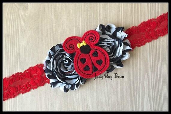 Knitting Ladybug Ladybird Headband : Lady bug headband ladybug love by jadybugbows