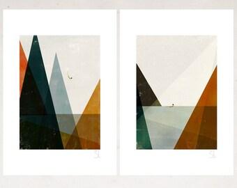 Nadadora set of two big prints