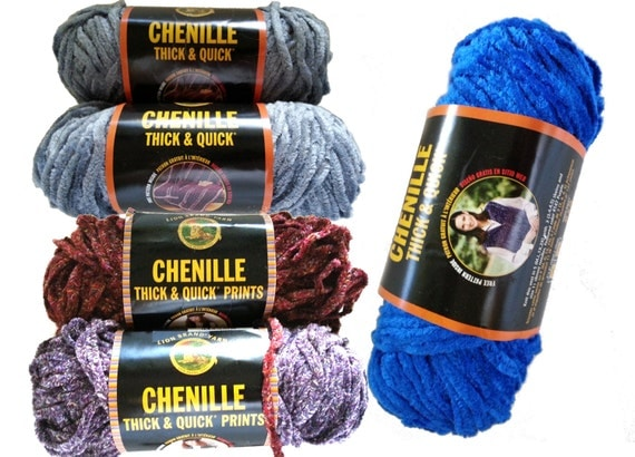 Chenille Yarn : Lion Brand Thick & Quick Chenille Yarn Sale New by artgalstudio