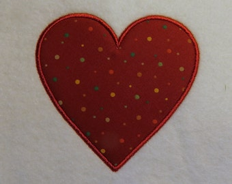 Hearts - Applique Embroidery - 4 Sizes