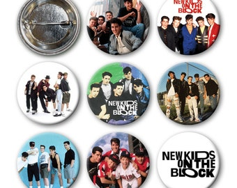 New Kids on the Block - NKOTB - Pinback Buttons (set of 8) 90s