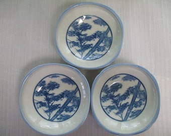 Set of 3 Bowls for Sides Dishes and Tofu