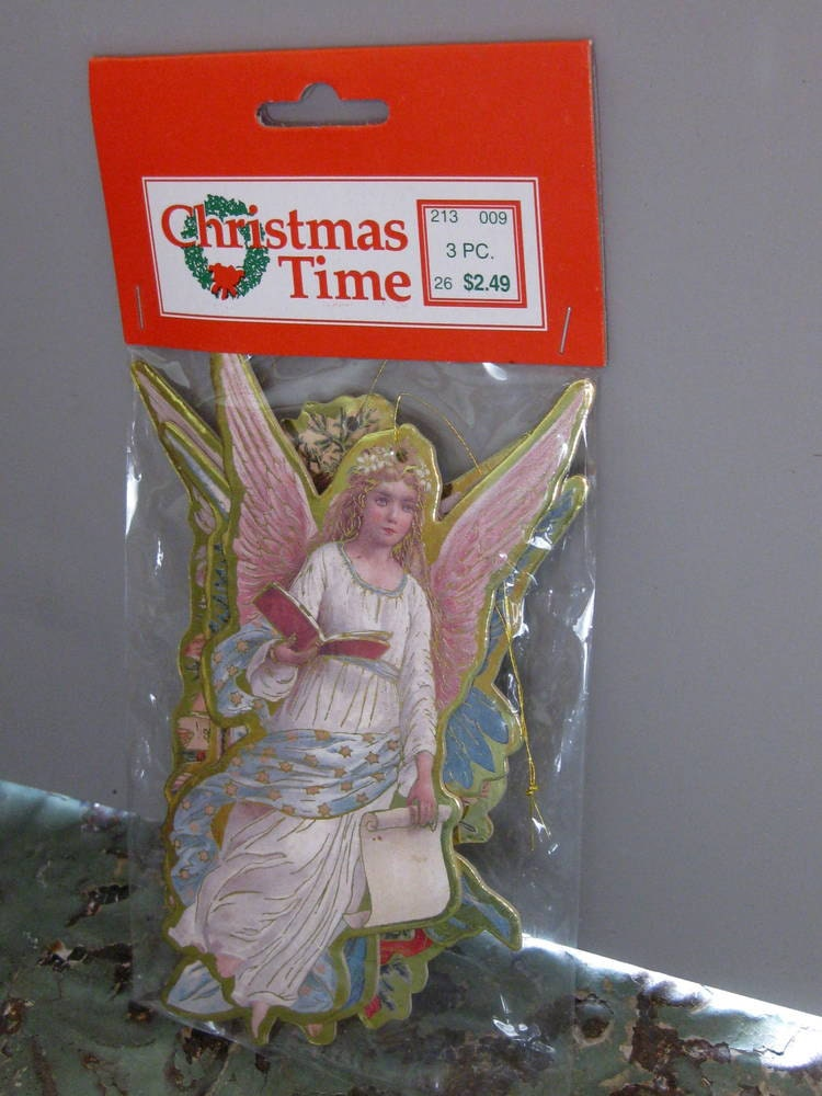 Vintage Old Fashioned Christmas Angel Decorations Ornaments