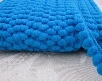 Turquoise Blue Mini Pompom Trim