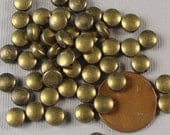 50 pcs Antiqued Brass Finished Bronze Puff Spacer Beads, Puffed Coins  6x3mm SP1001