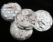 Vintage Antique Round Watch Movements Steampunk Altered Art Assemblage  Q 61