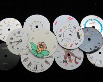 Vintage Antique Watch Dials Steampunk  Faces Parts Altered Art  A 75