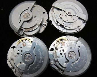 Vintage Antique Round Watch Movements Steampunk Altered Art Assemblage N 64