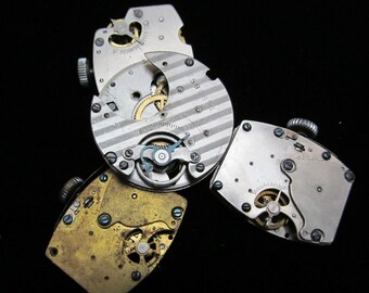 Vintage Antique Industrial Looking Watch Pocket Watch Movements Steampunk  DI 68
