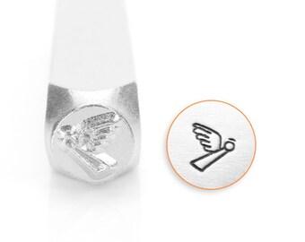 Angel Design Stamp, Metal Stamp, 6mm, Carbon Steel Design Stamp, ImpressArt Design Stamp, SC158-A-6MM, Angel, 6mm Design Stamp
