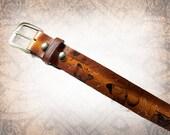 Butterfly Belt - Leather Belt, Brown Leather Belt, Mens Leather Belt, Women's Leather Belt, Genuine Leather Belt, Belt