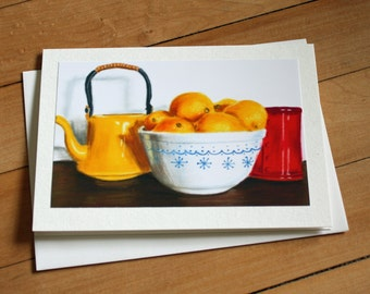 Handmade Greeting Card with When Life Gives You Lemons Print