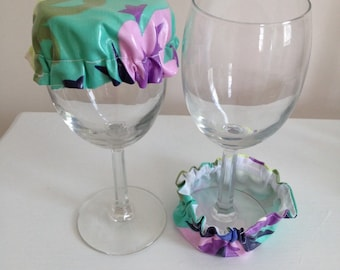 Reusable Elastic Drink Cup Glass Laminate Coaster Cover Amy Butler