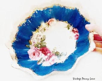 Decorative Antique Bowl, Porcelain Floral