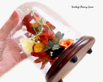 Preserved Butterfly, Glass Dome Display / Terrarium