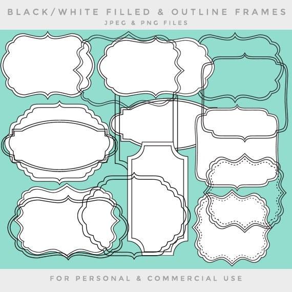 Cuadros de arte clip marco clip arte negro blanco marcos - Cuadros con marco blanco ...