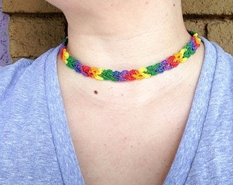 Crochet Rainbow Necklace