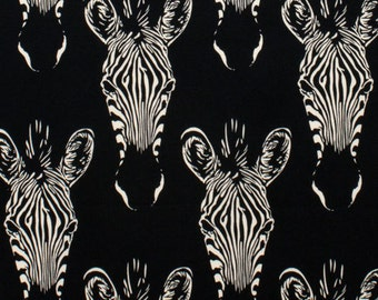 Zebras Black Alexander Henry Fabric 1 yard
