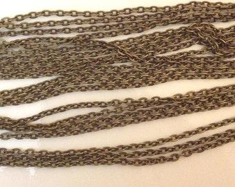 32ft (10 meters) Bronze tone 2mm x 3mm link chain - M#EG