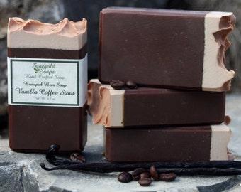 Vanilla Coffee Stout Handmade Artisan Beer Soap