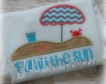 Beach Days Embroidery Applique Design