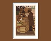 The Godfather I version 2 poster 12x18 inches retro print