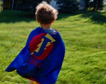 SUPERHERO CAPE-Super Hero Cape-Personalized Cape-Boy Cape-Custom Cape-Fast Shipping-Birthday Gift-Kid Cape-Cape-Kids Gift-Superhero Costume