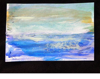 Original Mixed Media Waterscape, #85 of 101 Lake Series 2013