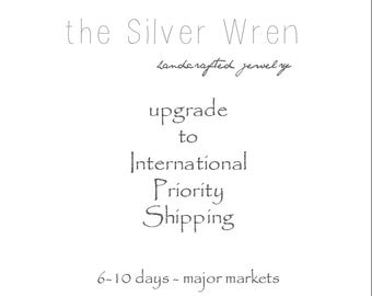 International - Upgraded Shipping - International Priority mail- Reserved Listing