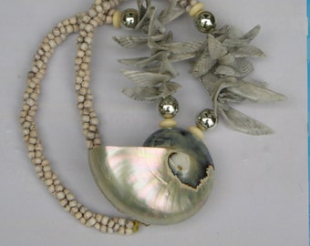 HUGE Statement Sea Shell Necklace