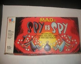 Vintage MAD's Spy Vs Spy Board Game By Milton Bradley 1986 Mad Magazine