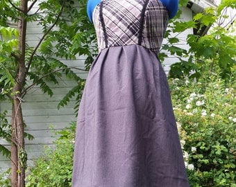 Simple Greys Apron top Dress womens M/L ~ Lazy Mare Homegrown Original~