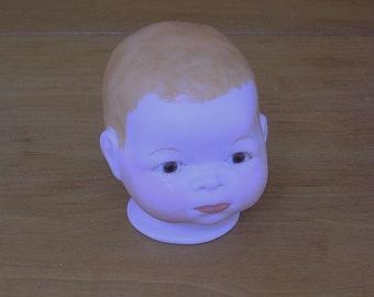 Vintage Doll Head Vintage Ceramic Doll Head