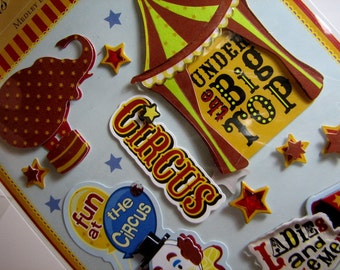 CIRCUS THEMED Dimensional Embellishments Stickers