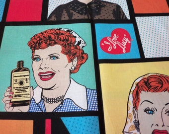 I Love Lucy Chocolate Factory Fabric By the Yard