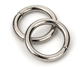 "30pcs - 5/8"" Metal O Rings Non Welded Nickel - Free Shipping (O-RING ORG-150)"
