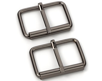 "50pcs - 1 1/2"" Roller Pin Belt Buckles - Black Nickel - Free Shipping (ROLLER BUCKLE RBK-123)"